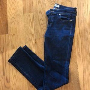 Madewell Alley Straight Leg Jeans Dark Wash